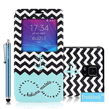 [holiczone] Galaxy Note 4 Case, Tradekmk(TM) Brand New Fashion High Quality Flip Leather W/91108