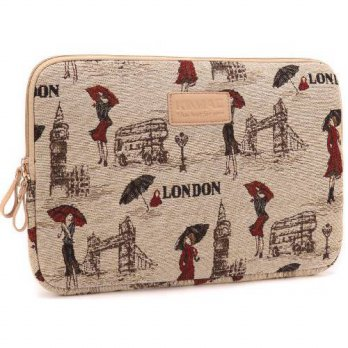 [holiczone] Kinmac London Lady Patten Special Fabric Laptop Sleeve 13 Inch for Macbook Air/92310