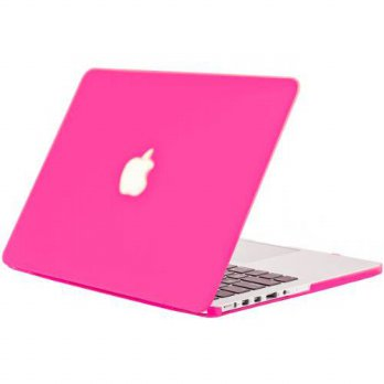 [holiczone] Kuzy - Retina 13-Inch Neon Pink Rubberized Hard Case for MacBook Pro 13.3 with/95334