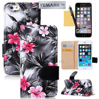 [holiczone] 6 Plus Case, iPhone 6 Plus Case, YEMARK(TM) Premium PU Leather [Exquisite Pala/105880