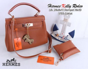 TAS WANITA IMPORT HERMES KELLY RODEO TOGO SET DOMPET JERUK