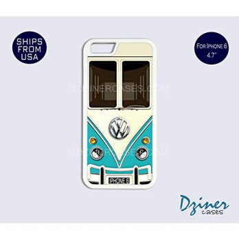 [holiczone] Dziner Cases iPhone 6/6S Case - 4.7 inch model - VW Teal Minibus Retro Cover/107701