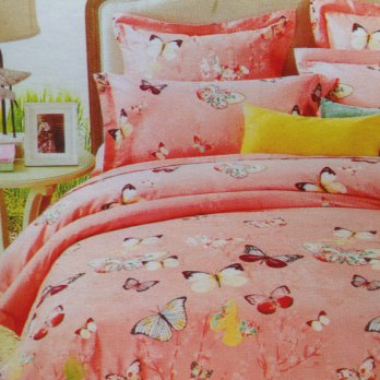 The Carls Butterfly song pink 180x200x30 - Katun Lokal