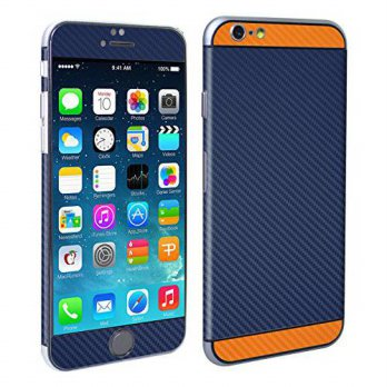 [holiczone] Decalrus - Apple iPhone 6 6s (with 4.7 screen) Two Tone Blue & Orange Textured/107984
