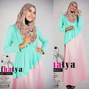 Fhatya toska set ( dress plus pashmina polos) SJ0035