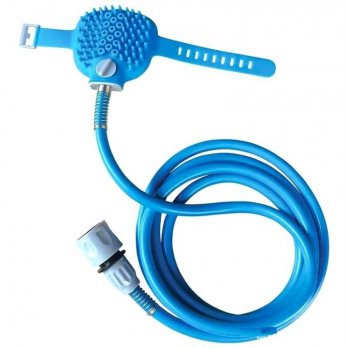 Pet Bathing Tool - Combination of Shower Sprayer and Scrubber
