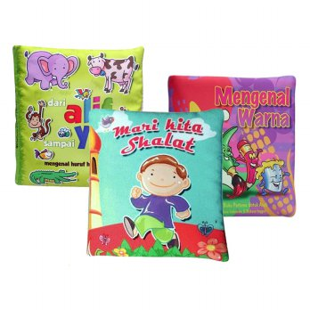 [HOT PROMO] Buku Bantal / Buku kain / Softbook / Washable book Paling Populer