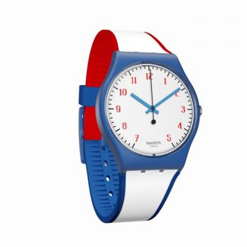 jam cewek putih biru swatch GN248 sweety pretty girl mewah fashion ori