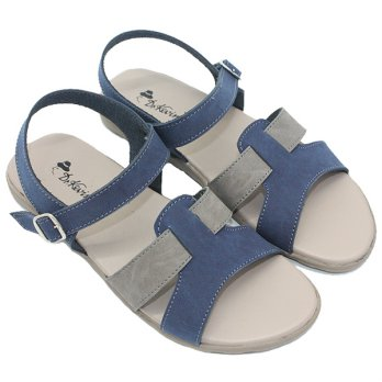 Dr. Kevin Women Flats Sandal 26131 - 2 Colors [ Navy/Grey,Tan ]