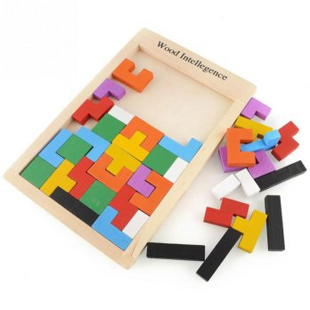 Russian Block Wood Intellegence Senteng Toys ( Tetris Brain Game )