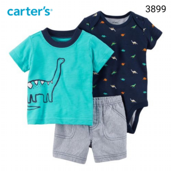 3in1 Dino jumper set 3899 - 6-9 Bulan