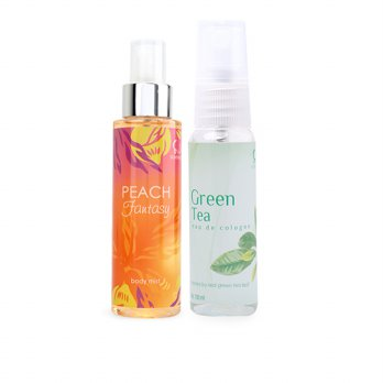 GET 2 PCS EDC RELAXING PEACH + GREEN TEA 100 ML
