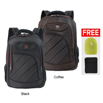 Polo Classic 18076-21 Backpack + Rain Cover - Coffee