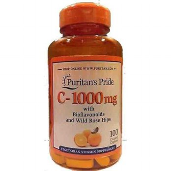 Puritans Pride Vitamin C 1000 mg with Bioflavonoids and Rose Hips