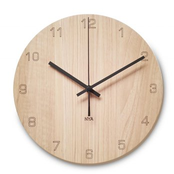 Jam Dinding Unik - Nail Your Art BlackMapleNumber 30 X 30 X 4Cm - Wall Clock