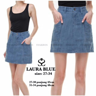 Rok Jeans Laura soft Blue Dif00003R