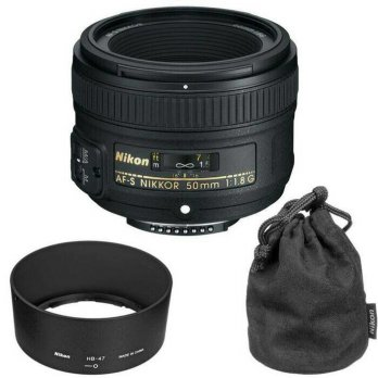 LENSA NIKON AF-S 50MM F/1.8G+UV FILTER