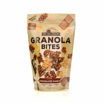 [POP UP AIA] East Bali Cashews Granola Bites Chocolate Vanilla 125gr - 2 Pcs
