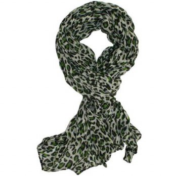 [macyskorea] Ted and Jack - Classic Leopard Print Fashion Scarf in Green/12646886