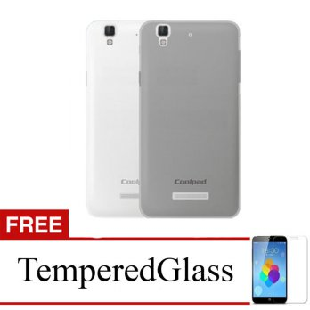 Case for CoolPad Roar 3 - Abu-abu + Gratis Tempered Glass - Ultra Thin Soft Case
