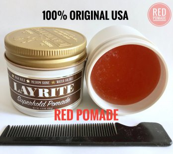POMADE LAYRITE SUPERHOLD HEAVY WATERBASED 4 OZ + FREE SISIR
