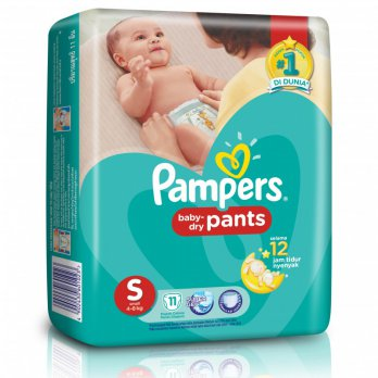 Pampers Dry Pants S 11 (Bandung Jabodetabek Only)