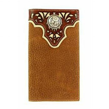 [macyskorea] Ariat Mens Tope Inlay Top Circle Rodeo Western Wallet, Tan, One Size/12642659