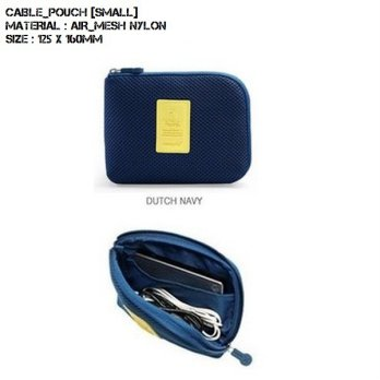 Cable Pouch Organizer [SIZE S] / Tempat penyimpanan charger, powerbank, handsfree, earphone dll
