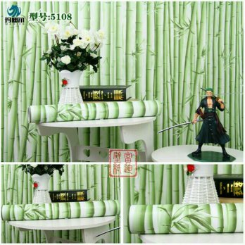 Wallpaper Sticker 10m Motif Bambu
