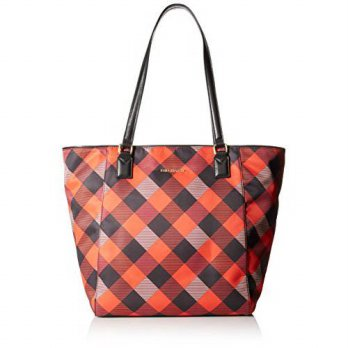 [macyskorea] Vera Bradley Ella Tote Bag, Buffalo Check Burnt Orange/Black, One Size/12635368