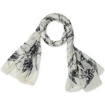 [macyskorea] Corciova corciova Animal Printed Swallow Womens Long Scarf White/12633541