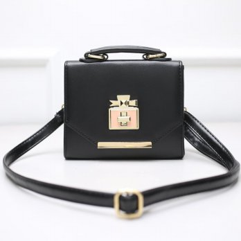 Tas Wanita Handbags Shoulder Ransel Import GT21438 Black