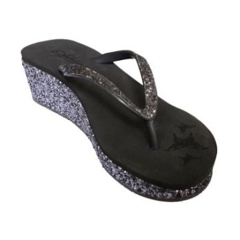 Sakia Cabaret Grey Wedges Sandal