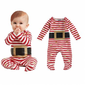 Fashion Kids Infant Baby Boy Girl Christmas Suit Romper Jumpsuit Outfits Clothes