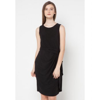 Black Layerd Shift Dress (Size M)