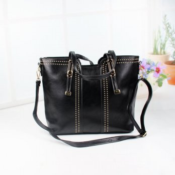 Tas Wanita Handbags Shoulder Ransel Import GT21363SN Black