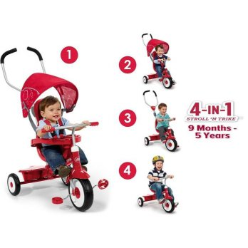 Sepeda Anak Radio Flyer The 4 in 1 Trike Stroll and Trike Roda Tiga