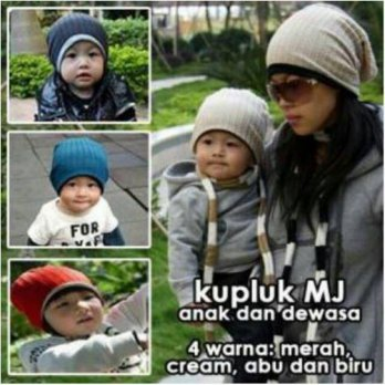 Kupluk Mj Hat / Korean Hat / Topi bolak balik