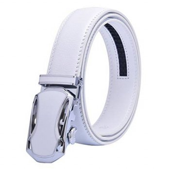 [macyskorea] Talleffort White Leather Belts for Man Sliding Buckle 35mm Ratchet Belts (38)/12631963