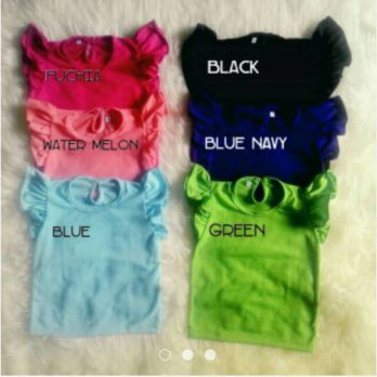 Ruffle tee size M / Sexy Back tee / Kaos Polos Anak Perempuan