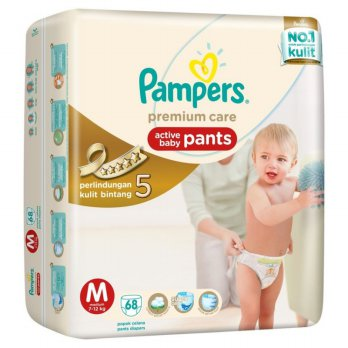 Pampers Popok Bayi Premium Care Pants Celana-M 68Pcs