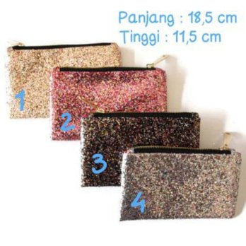 Pouch / Clutch Sequin Dompet Pesta Small size