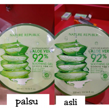 Nature Republic Soothing & Moisture Aloe Vera Soothing Gel 300ml Cream Krim Gel Perawatan Kulit Wajah & Tubuh 300 Ml Best Seller