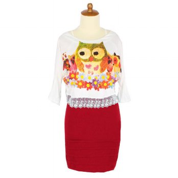 Iyesh HENN2210 - 2210 Dress Owl - Merah