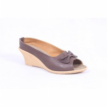 SANDAL WEDGES WANITA KULIT ASLI FTP S-93 WIN LEATHER