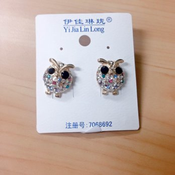 Anting Motif Burung Hantu