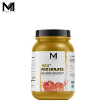 Muscle First Gold Pro Isolate 2 Lbs Guava Roscha - lb banana bubuk fit fitness gym M1 musclefirst protein supplement suplemen susu taro whey