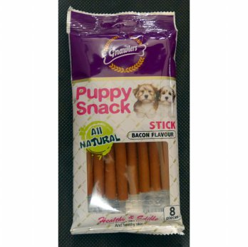 Snack Anjing / Gnawlers Puppy Snack Stick Bacon 80g 05703