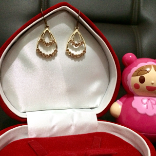 Anting Pesta Oval Bulat Import Fashion Korea Swarovski SJ0045