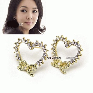 Anting Love Heart Hati Fashion Import Korea SJ0045